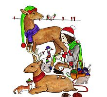 Christmas Series 04 Knitting by Dani Louise Sharlot