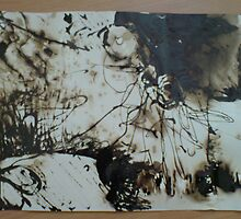 Bitumen Abstract 01 by Dani Louise Sharlot