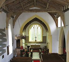 Tibenham Church Interior by BizziLizzy
