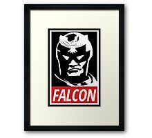 Captain Falcon: Obey Parody Framed Print