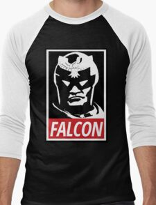 Captain Falcon: Obey Parody Men's Baseball ¾ T-Shirt