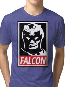 Captain Falcon: Obey Parody Tri-blend T-Shirt