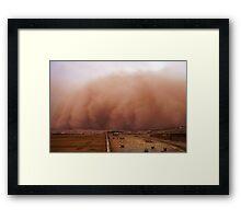 Sand storm in Afghanistan Framed Print