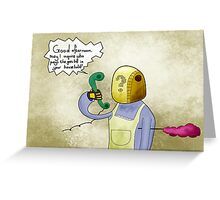 Bangalter at Home Greeting Card