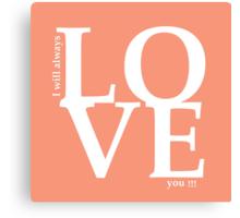 love 3 Canvas Print