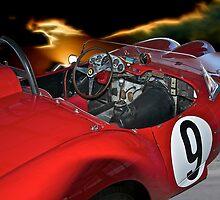 1958 Ferrari 250GT Testa Rossa II 'Driver's Compartment' by DaveKoontz