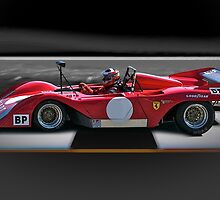 1974 Ferrari 312P V12 'Finish Line' by DaveKoontz