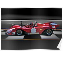 1974 Ferrari 312P V12 'Finish Line' Poster