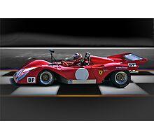 1974 Ferrari 312P V12 'Finish Line' Photographic Print