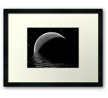 Lunar Lake Framed Print