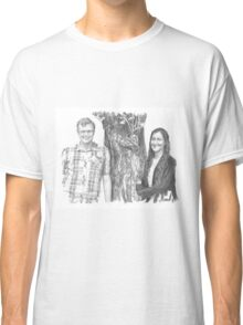 Siblings and a tree drawing Classic T-Shirt