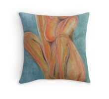 Android woman Throw Pillow