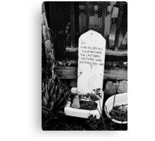 Dead Salesman Canvas Print