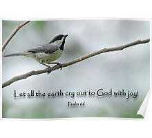 Let all the earth cry out to God with joy  Poster