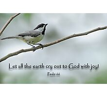 Let all the earth cry out to God with joy  Photographic Print