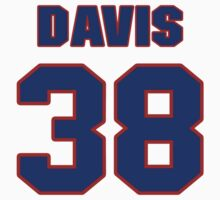 National baseball player Jim Davis jersey 38 by imsport