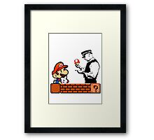 Super Mario In Trouble Framed Print