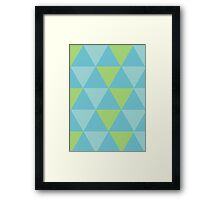 Triangle Background Framed Print