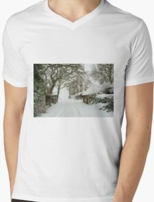 Snowy Shed  Mens V-Neck T-Shirt