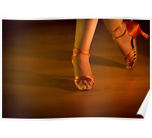 Latin woman dancing feet Poster