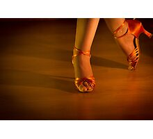 Latin woman dancing feet Photographic Print