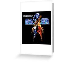 Retro Gamer Greeting Card