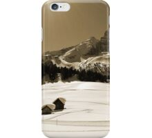 Little Snowy Hut by Mountains iPhone Case/Skin