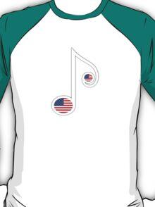 USA Music Note T-Shirt