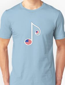 USA Music Note T-Shirt
