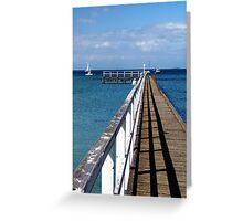 Sorrento Pier Greeting Card