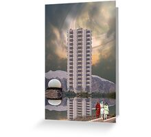 Luxury Pakistani Seven Star Hotel Serena on Titan, the moon of Saturn Greeting Card