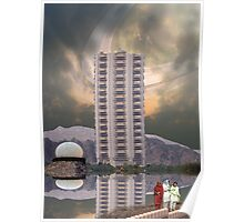 Luxury Pakistani Seven Star Hotel Serena on Titan, the moon of Saturn Poster