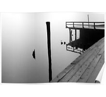 Foggy Dock 25 BW Poster