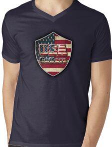 USA guitars Mens V-Neck T-Shirt