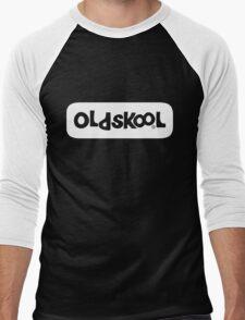 Oldskool logo - white Men's Baseball ¾ T-Shirt