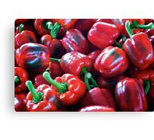 Pile O' Peppers Canvas Print