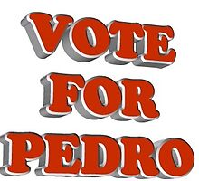 VOTE FOR PEDRO by animatedtextart