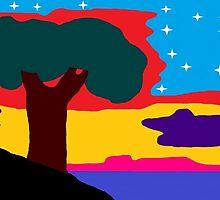 Lone Tree at Sundown by AlexMichaels