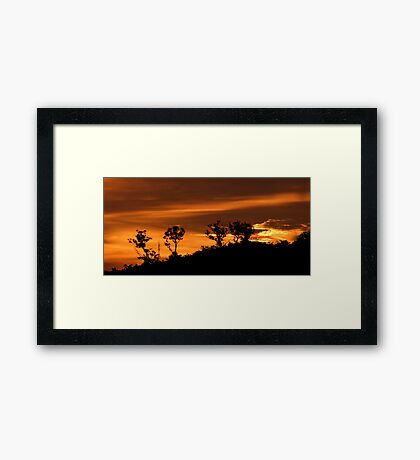 Awesome Evening Framed Print