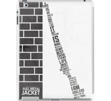 Full metal Jacket poster iPad Case/Skin