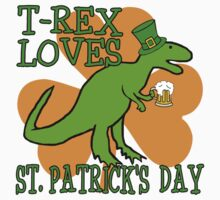 T-REX LOVES ST. PATRICK'S DAY Kids Tee