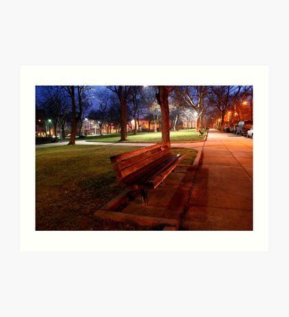 Park Bench ! Art Print