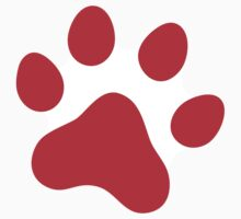 Red paw print sticker by Mhea