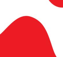 Red paw print sticker Sticker