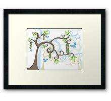 Magic Trees and Baby Boy Pea in a Pod Framed Print