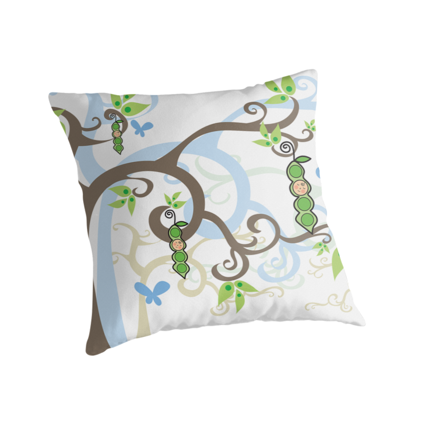 Magic Trees And Baby Boys - Baby Shower Throw Pillow