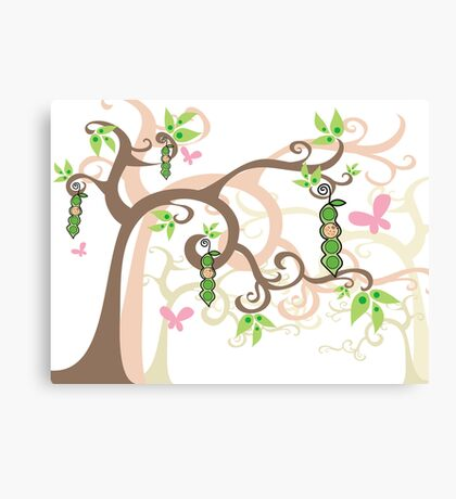 Magic Trees and Baby Girl Pea in a Pod Canvas Print