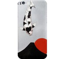 Mt Fuji Wave Sun Rise Utsuri Mono painting iPhone Case/Skin