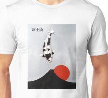 Mt Fuji Wave Sun Rise Utsuri Mono painting Unisex T-Shirt