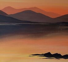 Loch Eil at sunset by Anne Nicholson